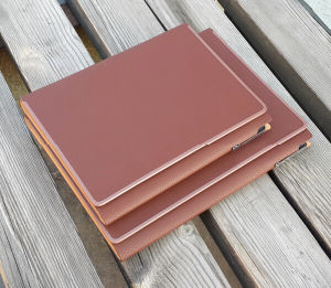 Top Grade PU Leather Notebooks pictures & photos