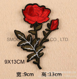 Fashion Customize Rose Flower Applique 3D Wowen Clothing Embroidery Patch pictures & photos