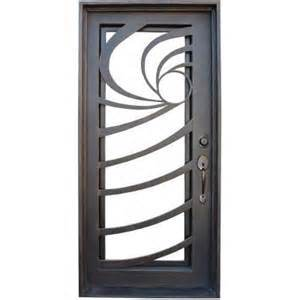 Wrought Iron Single Doors in Fashion Design Steel Security Doors (UID-S058) pictures & photos