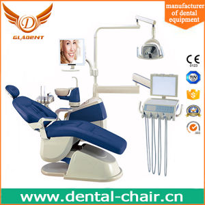 Gladent Fashion Design Dental Chair Unit with Real Leather Cushion pictures & photos