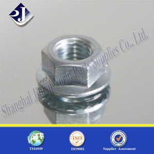 Hex Flange Nut for Automobile Zinc Plated pictures & photos