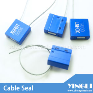 Self Locking Security Cable Seal with Logo Serial Number (YL-HJ-B1.0) pictures & photos