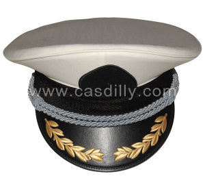 Military Army Hand Embroidery Peak Caps pictures & photos