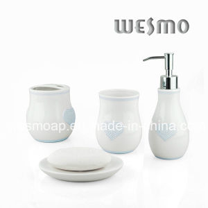 Porcelain Bath Coordinates with Heart Shape Decoration (WBC0606B) pictures & photos