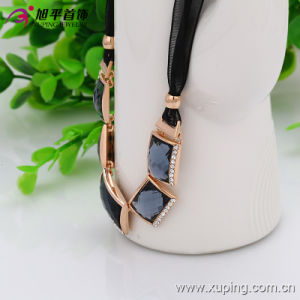 (necklace-00030) Fashion Gold-Plated Rhinestone Women Jewelry Necklace in Copper Alloy pictures & photos