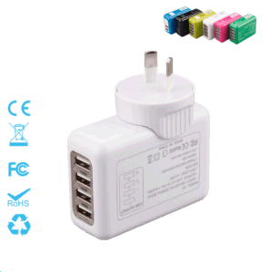 Four Ports Interchangeable Travel Plug Charger 5V=3.1A pictures & photos