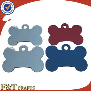 Promotional Colorful Anodized Metal Cool ID Bone Shape Dog Tag (FTDT2011A) pictures & photos