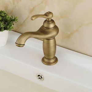 Solid Brass Antique Bronze Basin Faucet (6603) pictures & photos