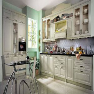 French Style White Oak Wood Kitchen Furniture