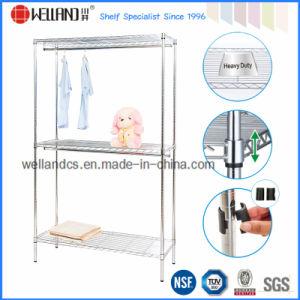 Adjustable Chrome Home Metal Garment Shelf Rack /Wardrobe pictures & photos