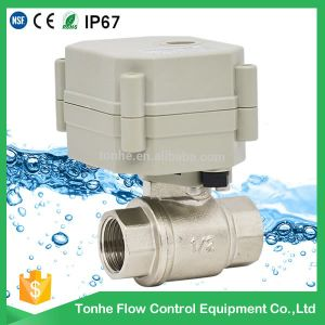 2 Way Dn15 Nickel Plated Brass Motorized Electric Water Ball Valve pictures & photos