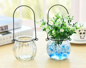 Wholesale New Style Cheap Decorated Colored Glass Vase pictures & photos