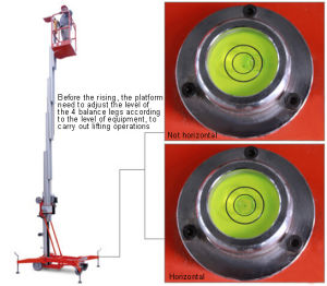 Portable Aluminium Aerial Work Platform with 8.5m Working Height pictures & photos