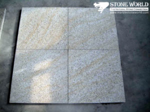 Bushhamered G350 Yellow Rock Granite Tile for Flooring pictures & photos