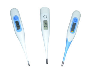 Big LCD Display Digital Medical Flexible Thermometer with Backlight pictures & photos