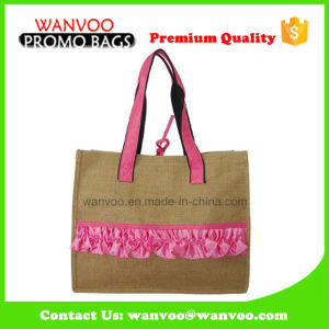 Eco-Friendly Jute Handbag with PU Handle From China pictures & photos