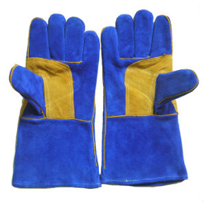 Cowhide Split Leather Industrial Safety Welding Work Gloves pictures & photos