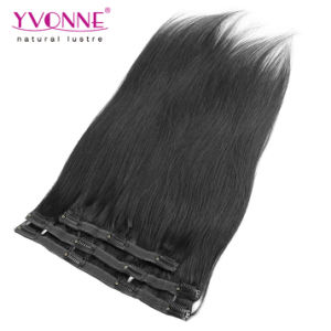 Brazilian Straight Clip in Human Hair Extensions pictures & photos