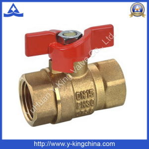 Control Brass Butterfly Ball Valve with Sand Blasting (YD-1009) pictures & photos