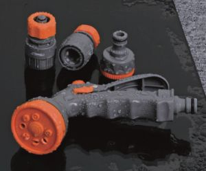 ABS Plastic Garden Hose Fitting Set with Hose Connector, Adaptor, Spray Gun pictures & photos