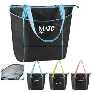 Striped Nonwoven Cooler Tote Handbags for Promotion pictures & photos