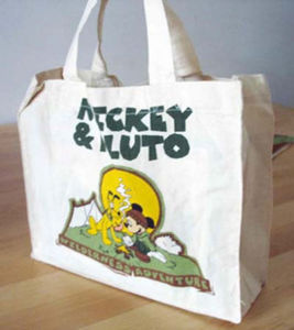 Printed Cotton Canvas Bag Shopping Promotional Tote Bag (LJ-363)