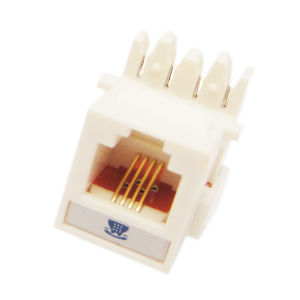 Mini Type Rj11 Telephone Connector Keystone Jack pictures & photos