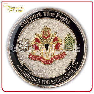 Epoxy Coated Stamped Two Tone Finish Challenge Coin pictures & photos