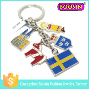 Wholesale Promotional Gift Cheap Fashion Custom Metal Flag Keychain pictures & photos
