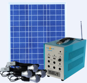 Small Solar Home Lighting Kit with 8 LED Lights and Mobile Phone Charger 40W Solar Panel pictures & photos