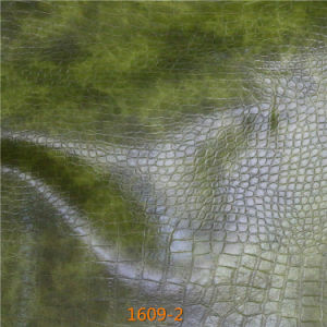 Snakeskin Pattern Microfiber Leather for Sofa Upholstery (1609#) pictures & photos
