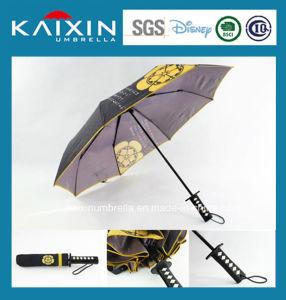 Katana Shape Handle Folding Umbrella