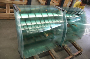 Tempered Clear Curved Glass with AS/NZS2208: 1996, BS6206, En12150 Certificate pictures & photos