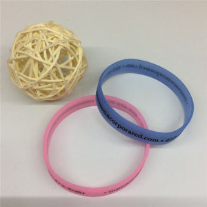 Single Color Printing Wholesale Silicone Rubber Bracelets pictures & photos