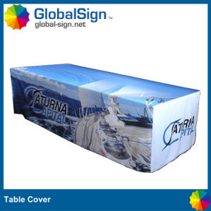 Trade Show Printed Polyester Table Throw (DSP10) pictures & photos