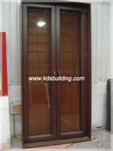 Hot Sale Casement Opening Wood Glass Door Design (KDSAW077)