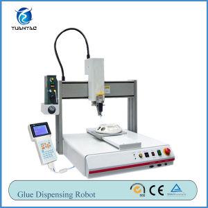 CE Certification Automatic Desktop Hot Melt Glue Dispenser Machine pictures & photos