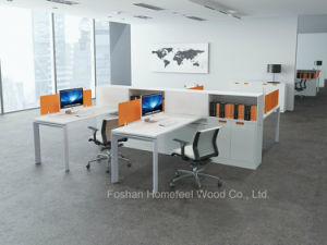 Modern Open Office Linear Workstation Table with Glass Divider (HF-YZM006) pictures & photos