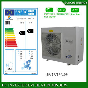 Sweden -25c Winter Floor Heating 100~350sq Meter Room 12kw/19kw/35kw Auto-Defrost Evi DC Split Heat Pump Water Heater pictures & photos
