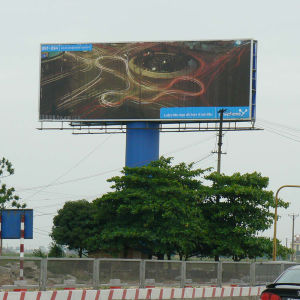 Highway Pole Supported Trivision Billboard Structure Display pictures & photos