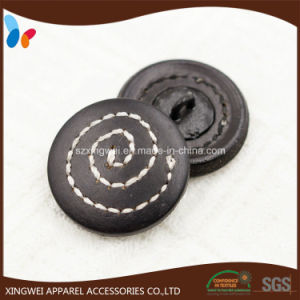 Sewing Thread Leather Buttons Leather Covered Shank Button pictures & photos