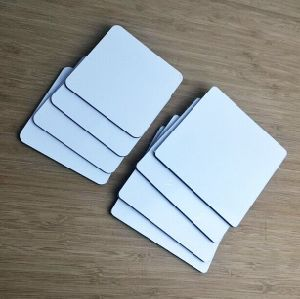 Wholesale Imprintable White Sublimation Wood MDF Cork Coasters Free Sample