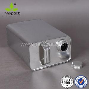 4L Silver Rectangular Tin Case with Screw Cap pictures & photos