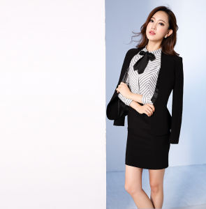 Made to Measure Fashion Stylish Office Lady Formal Suit Slim Fit Pencil Pants Pencil Skirt Suit L51612 pictures & photos