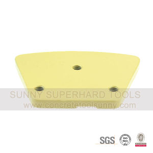 2 Quarter Round PCD Trapezoid Diamond Floor Grinding Shoes Pad Tools with Sacrificial Bar pictures & photos
