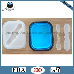 Food Grade Silicone Food Container Silicone Lunch Box Sfb01 pictures & photos