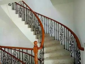 Diverse Styles of European Style Wrought Iron Stair Handrail pictures & photos