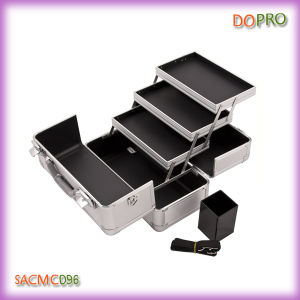 Silver Professsional Makeup Case with Brush Compartment (SACMC096)