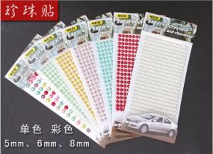 5mm 352 PCS Pearl and Rhinestone 3D Sticker for Crafts (TS-513 5mm pearl) pictures & photos