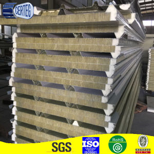 Thermal Insulation 100mm Rock Wool Sandwich Roof Panel Factory pictures & photos